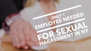 Only 1 employee needed for sexual harassment in NY