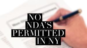 No NDA's permitted in NY